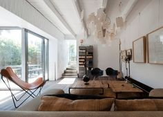 Le Prado, renovation of historic home - interior design by Maurice Padovani. Located on the beach near Marsiglia, Italy