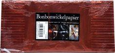 Bonbonwickelpapier Rot Aluminium ca. 10 Blatt