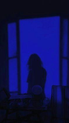 Dark Blue Wallpaper, Blue Wallpaper Iphone, Blue Wallpapers, Blue Aesthetic Grunge, Aesthetic Colors, Aesthetic Pictures, Blue Dream, Love Blue, Blue Rooms