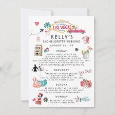 Bachelorette Itinerary, Disney Bachelorette, Bachelorette Party Planning, Bachlorette Party, Bachelorette Weekend, Bachelorette Decorations, Bridal Decorations, Vegas Wedding Invitations, Wedding Stationery