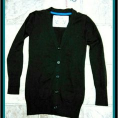 NWT - MOSSIMO BLACK CARDIGAN NWT - MOSSIMO BLACK BUTTON DOWN CARDIGAN SIZE SMALL 100% COTTON Mossimo Supply Co Sweaters Cardigans