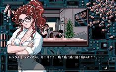 I love the look of games aka the Anime PC game machine Anime Pc Games, Cyberpunk, Anime Pixel Art, Old Anime, Retro Video Games, Perler Bead Art, Post Apocalypse, Manga Pages, Game Design