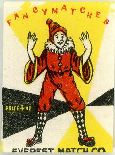 Match Box Label, Fancy Matches by gr8plunder, via Flickr