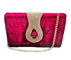 Bhamini velvet box clutch (Maroon like Wine Colour)-Bags-Bhamini Fashion