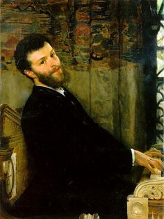 Portrait of the Singer George Henschel by Sir Lawrence Alma-Tadema, via Flickr