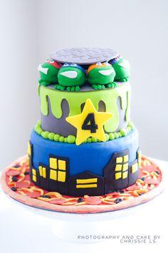 TMNT Birthday Cake Teenage Mutant Ninja Turtle