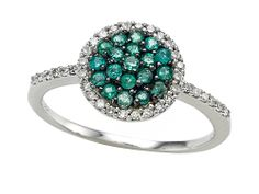 Genuine Emerald and Diamond Ring by Effy Collection - Finejewelers.com