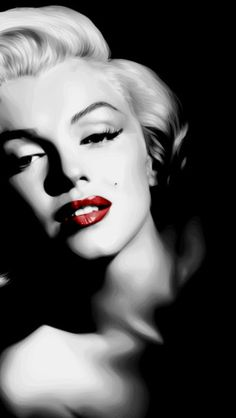 """Marilyn Monroe: Born """"Norma Jeane Mortenson"""" on June Classic Hollywood, Old Hollywood, Divas, Vintage Cartoons, Illustration Mode, Norma Jeane, Classic Beauty, Vintage Beauty, Most Beautiful Women"""