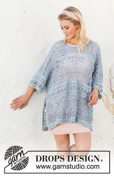 Free knitting patterns and crochet patterns by DROPS Design Pull Crochet, Double Crochet, Free Crochet, Knit Crochet, Lace Patterns, Knitting Patterns Free, Free Knitting, Crochet Patterns, Drops Design