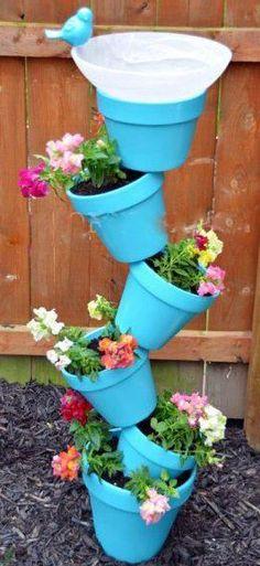 Gorgeous threaded plant pot display