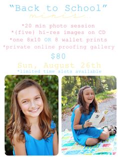 Back to School Mini Photo Sessions by Lissarie Photography