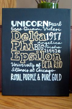 Delta Phi Epsilon National Sorority Greek by KrilynCraftology