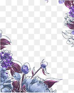 자주색 꽃의,보라색 경계,보라색 패턴,자유형 꽃 경계,자유형 보라색 꽃 Botanical Art, Clip Art, Stickers, Ornaments, Abstract, Purple, Illustration, Artwork, Nature
