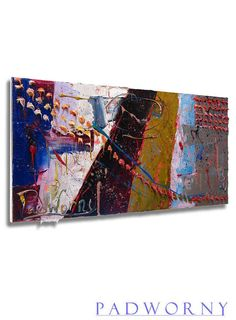 Oil Paint on Gallery Wrapped Stretched Canvas 24 by 12 by 3/4 in. / Modern Impressionism Art Signed Realsim Oil Painting Abstract Pointllism