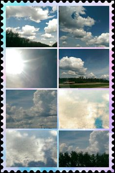 Clouds along the highway