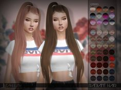 Radiant Hair Found in TSR Category 'Sims 4 Female Hairstyles' Sims 4 Mods Clothes, Sims 4 Clothing, Teen Hairstyles, Female Hairstyles, Casual Hairstyles, Medium Hairstyles, Braided Hairstyles, Sims 4 Cc Eyes, Sims New