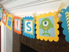 Little Monster Birthday theme  NAME is ONE by EmeraldCityPaperie, $27.00