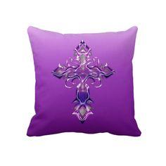 Travesseiro decorativo transversal medieval roxo