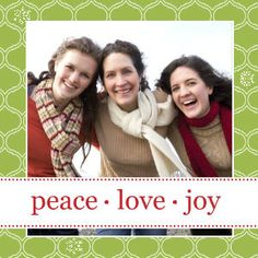 Mixbook Classic Pattern Holiday Photo Cards