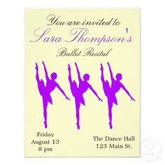 Dance Recital Invitations Dance recital Recital and Dancing