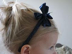 Make your own ribbon headband for toddler & baby girls...easy to make & so cute!!!