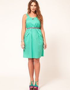ASOS CURVE Exclusive Dress With Dropped Pockets Curva Asos d77ab8364253