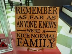 Nice Normal Family 6x6 Decal