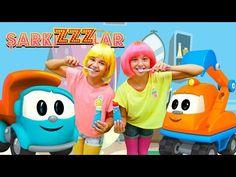 ŞarkıZZZlar! YENİ video! Diş fırçalama. Çocuk şarkısı. Kamyon Leo ile Okul Öncesi Eğitim - YouTube