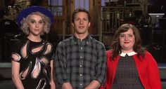 Andy Samberg rocks a 'sexy' earring in 'SNL' promo with St. Vincent