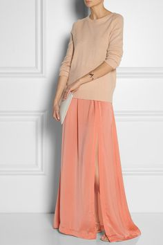 totes fabs!! BY MALENE BIRGER Sahana crepe de chine maxi skirt