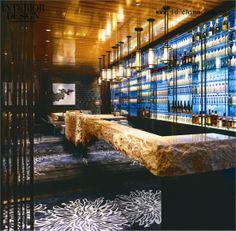 Four Seasons Guangzhou | live edge stone + polished s/s floating effect