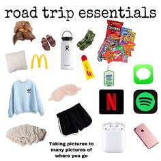 Travel Packing Checklist, Road Trip Packing List, Travel Bag Essentials, Travel Necessities, Road Trip Essentials, Road Trip Hacks, Travelling Tips, Packing Lists, Vsco