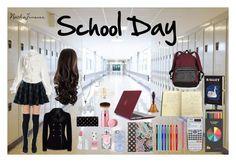 """""""School Day"""" by nathajimenez on Polyvore featuring moda, Missguided, Chicwish, Vivienne Westwood, Alexander McQueen, Victoria's Secret, Accessorize, HoneyBee Gardens, Topshop y Lancôme"""