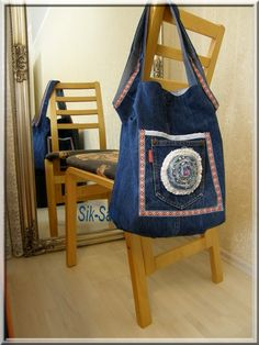 DIY, bag from old jeans