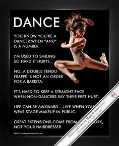 "Dancer Jump Poster Print is full of inspiration! Funny quotes and a dancer in midair make this the perfect dance gift. ""You know you're a dancer when ""and"" is a number,"" is just one of the motivationa Dance Photos, Dance Pictures, Jean Giraud, Funny Dance Quotes, Inspirational Dance Quotes, Les Memes, Dance Motivation, Ballet Quotes, Poster Print"