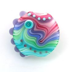 Lampwork bead with awesome colors
