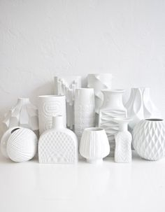 Mid Century White Porcelain #GlitteryMoonVintage