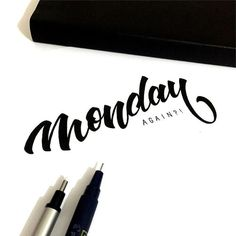 Monday Again? Lets make it a good one! Artwork via @cleonwong #todays_type…
