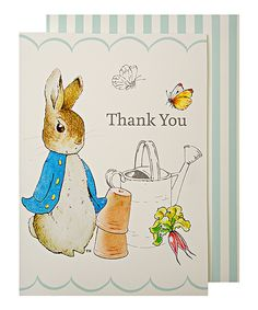 This Peter Rabbit 'Thank You' Card - Set of Eight by Peter Rabbit is perfect! #zulilyfinds