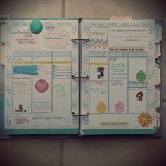 "Alternative to ""scrapbooking"" ... a decorated to-do list/journal/filofax... I could totally get into this!!! would make an adorable baby book as well!"
