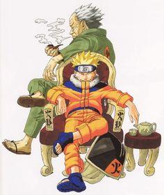 Naruto illustration by Masashi Kishimoto I like his old artwork better than his latest artwork