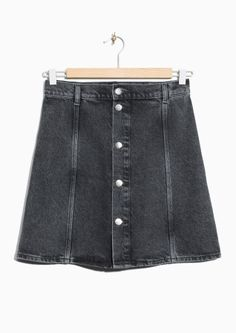 & Other Stories | Button-Down Denim Skirt