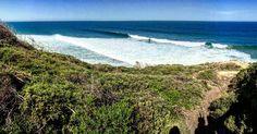 Bells Beach #greatoceanroad #greatocean #bellsbeach #bells #beach #australia #surf #wave #ola #sea #mar #sand #arena #cielo #sky #blue #azul #wood #playa #iphone6 #panoramica #panoramic #green #verde #sol #sun #south #sur #victoria by albertohernandezhernandez http://ift.tt/1KnoFsa