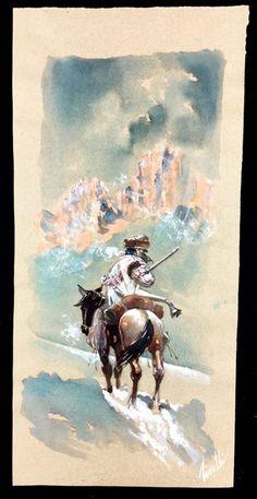 """Tisselli, Sergio - original illustration """"Indiano a Cavallo"""" - W.B."""