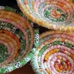 Beautiful Bowls Made from Fabric Scraps