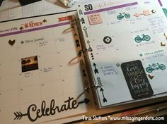 New Everyday Life CTMH planner! Incorporating washi tape, stamps, compliments & more