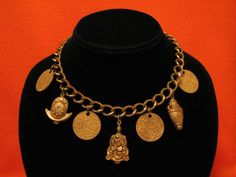Antique Miriam Haskell Early Unsigned Gold Gilt by JewelryStash
