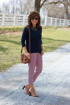 Spring Work Wear Outfit for women over 40