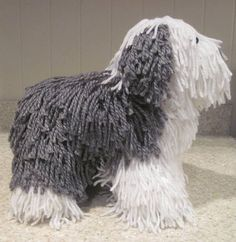 Crocheted Old English Sheepdog PDF Pattern Digital Download