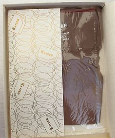 2 pairs of Bend-Easy stockings in the original shop box Made in England by Kayser Bondor in or around 1953 - they carry the Royal Warrant by